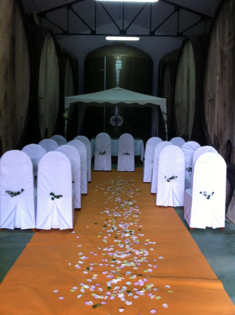 Ceremonia en el Llagar