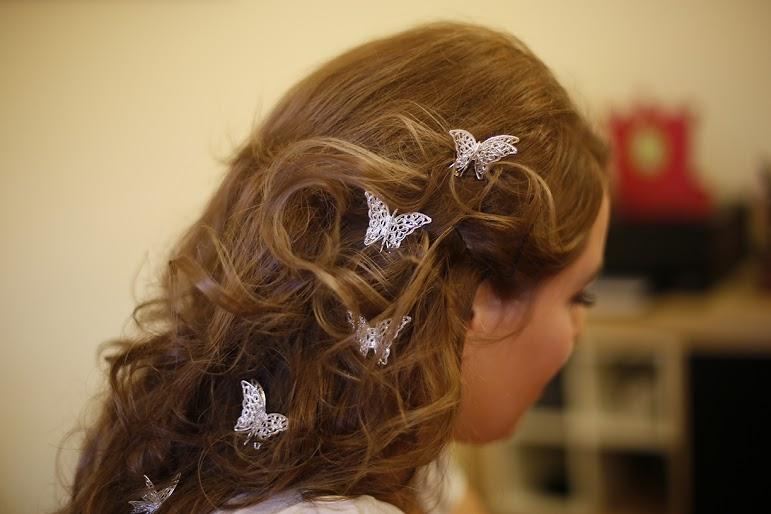 Detalle Mariposas en el Pelo